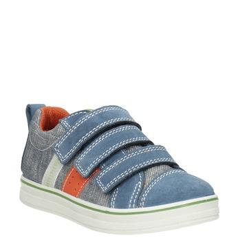 Dětské tenisky v denimovém designu mini-b, modrá, 213-9600 - 13