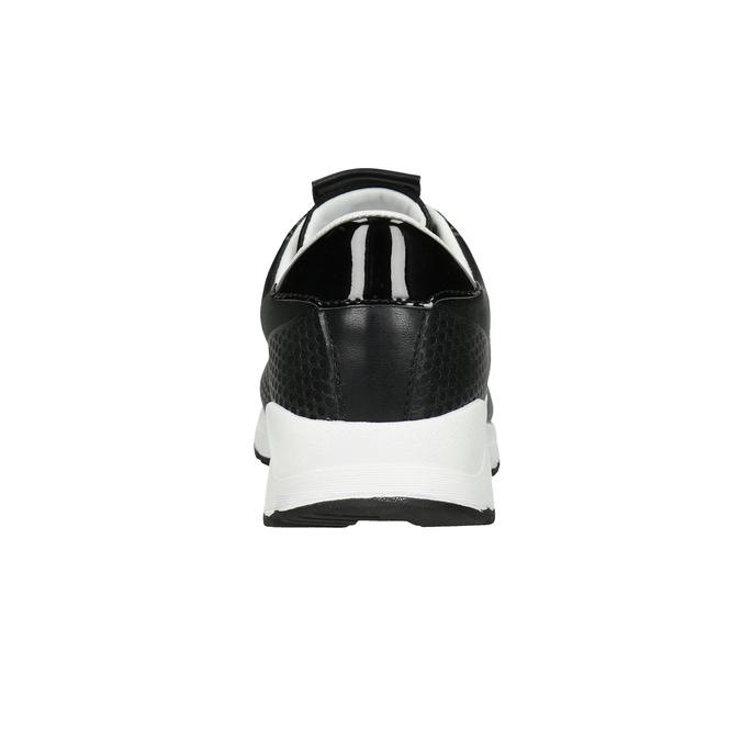 Černé dámské tenisky bata-light, černá, 549-6605 - 16