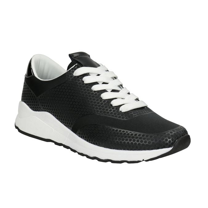 Černé dámské tenisky bata-light, černá, 549-6605 - 13
