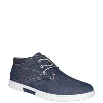 Ležérní tenisky v denimovém designu north-star, modrá, 841-9613 - 13