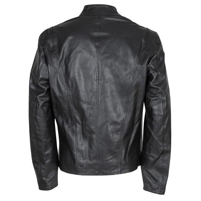 Pánská kožená bunda černá bata, černá, 974-6134 - 26