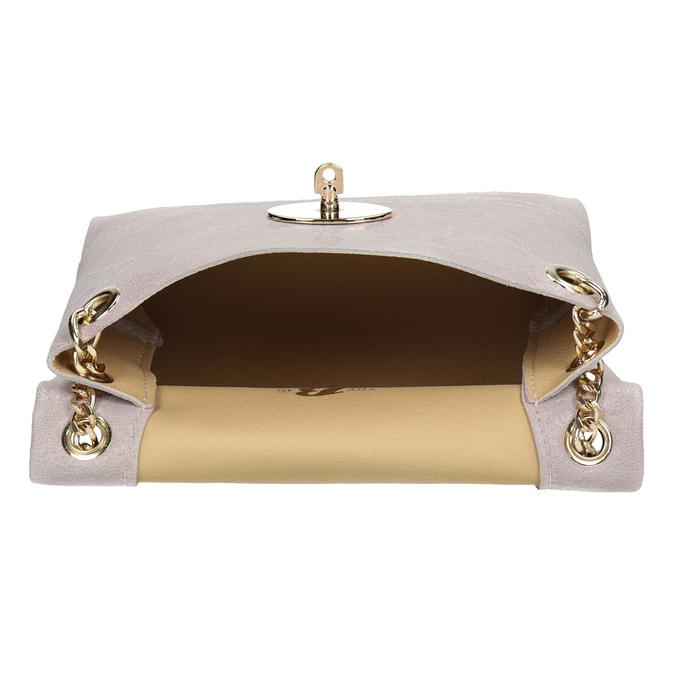 Kožená Crossbody se zlatým řetízkem bata, růžová, 964-0239 - 15