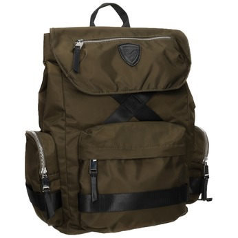 Textilní pánský batoh khaki atletico, khaki, 969-3677 - 13