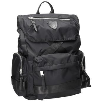 Černý pánský batoh z textilu atletico, černá, 969-6677 - 13
