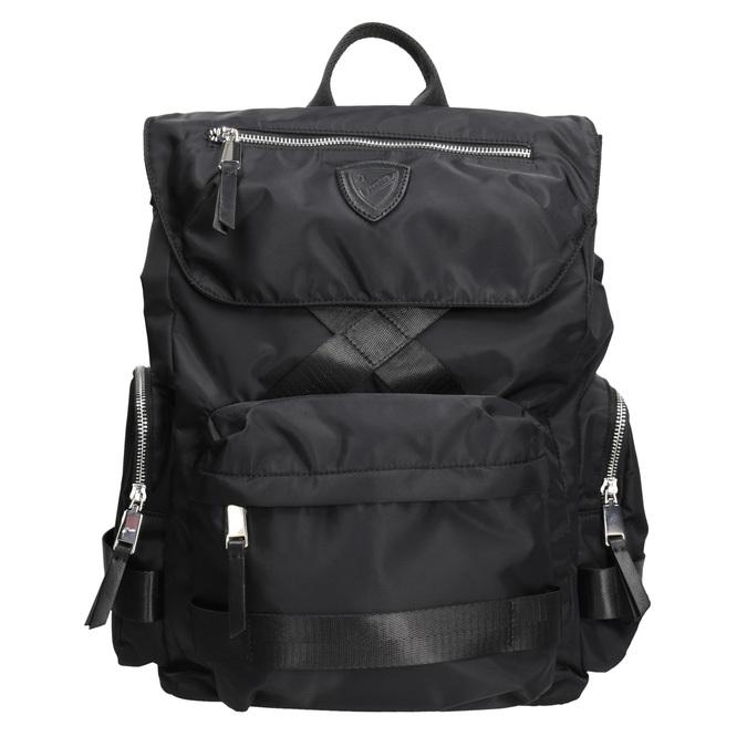 Černý pánský batoh z textilu atletico, černá, 969-6677 - 26