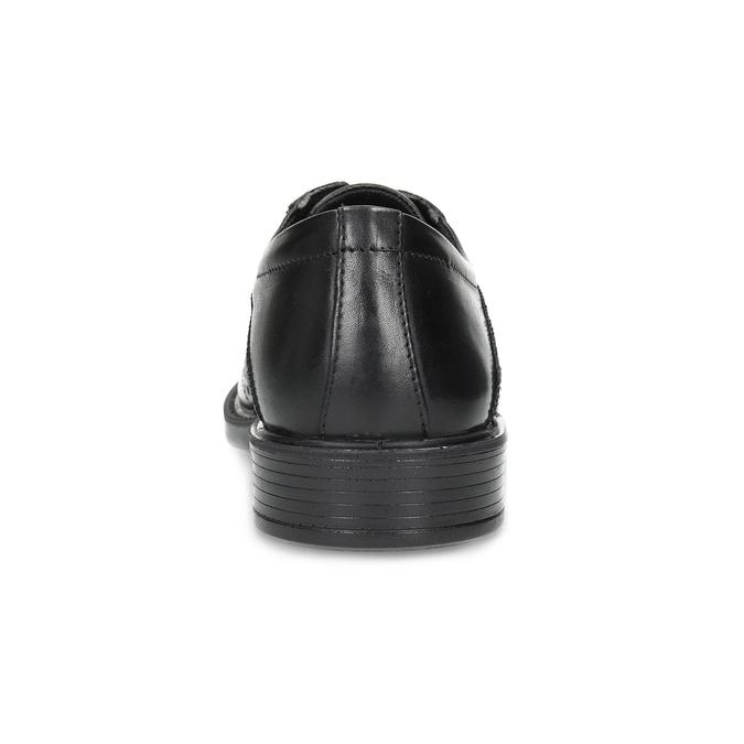 Kožené polobotky s Brogue zdobením comfit, černá, 824-6942 - 15