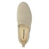 Kožená dámská Slip-on obuv weinbrenner, béžová, 536-8607 - 17