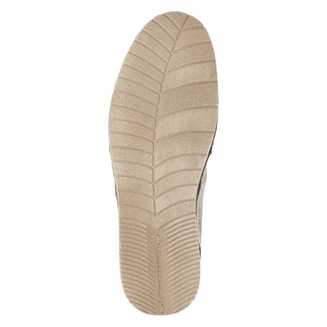 Kožená dámská Slip-on obuv weinbrenner, béžová, 536-8607 - 19
