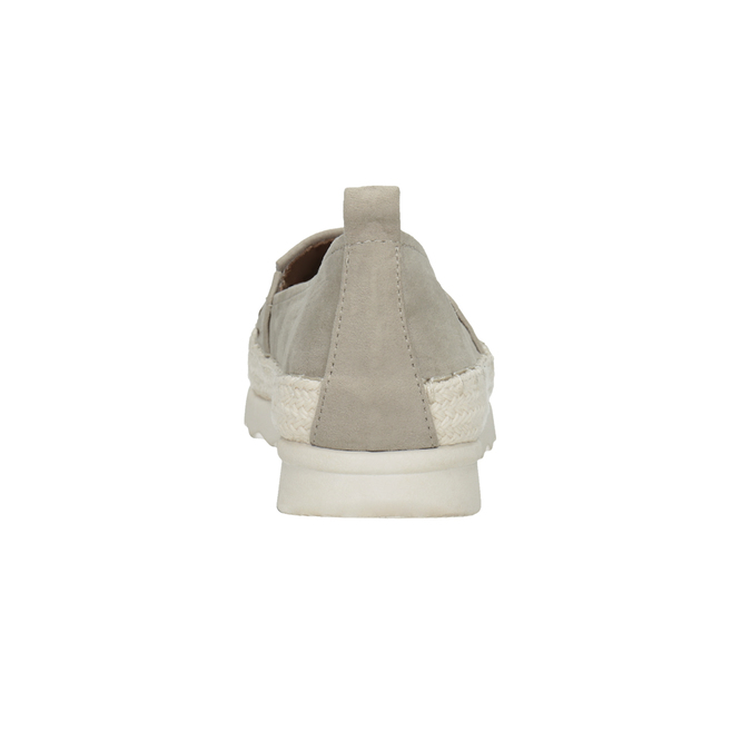 Dámské espadrilky s perforací bata, šedá, 519-2606 - 16