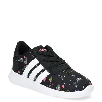 Dětské tenisky s barevným potiskem adidas, černá, 109-6388 - 13