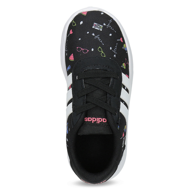 Dětské tenisky s barevným potiskem adidas, černá, 109-6388 - 17
