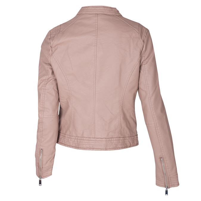 Růžová dámská bunda z koženky bata, růžová, 971-8211 - 26