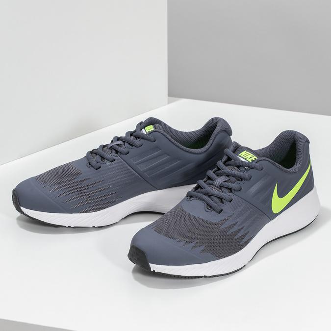 Dětské tenisky sportovního střihu nike, modrá, šedá, 409-9189 - 16
