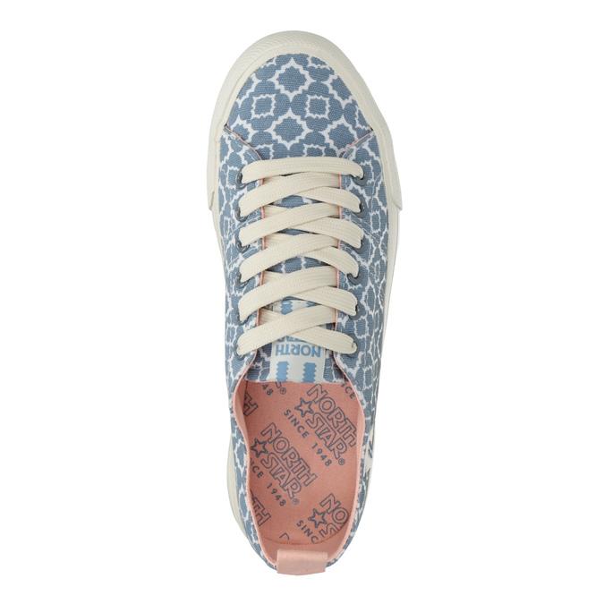 Dámské textilní tenisky se vzorem north-star, modrá, 549-9608 - 15