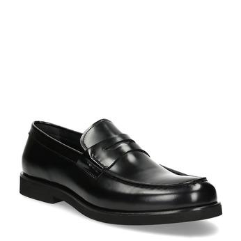 Pánské kožené mokasíny černé bata, černá, 814-6177 - 13