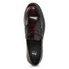 Pánské kožené mokasíny s červeným podtónem bata, červená, 814-5177 - 17