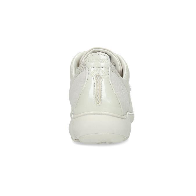 Dámské kožené bílé tenisky geox, béžová, 549-1001 - 15