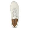 Dámské kožené bílé tenisky geox, béžová, 549-1001 - 17