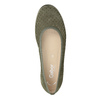 Ležérní kožené baleríny šíře G gabor, khaki, 623-7053 - 15
