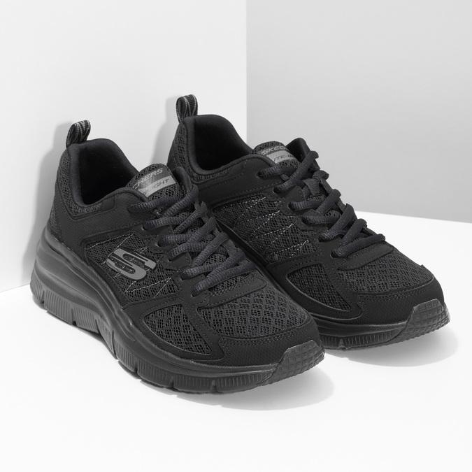 Černé sportovní Skechers tenisky skechers, černá, 509-6321 - 26
