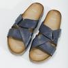 Kožené modré nazouváky bata, modrá, 866-9647 - 16