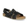 Pánské kožené sandály bata, černá, 866-6646 - 13