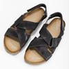 Pánské kožené sandály bata, černá, 866-6646 - 16