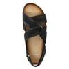 Pánské kožené sandály bata, černá, 866-6646 - 17