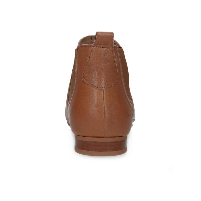Dámské kožené hnědé Chelsea Boots ten-points, hnědá, 516-4044 - 15