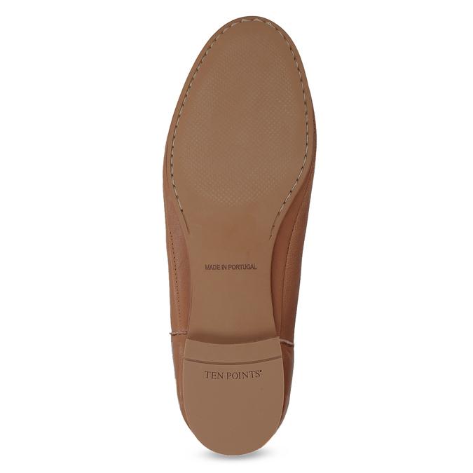 Dámské kožené hnědé Chelsea Boots ten-points, hnědá, 516-4044 - 18