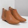 Dámské kožené hnědé Chelsea Boots ten-points, hnědá, 516-4044 - 26