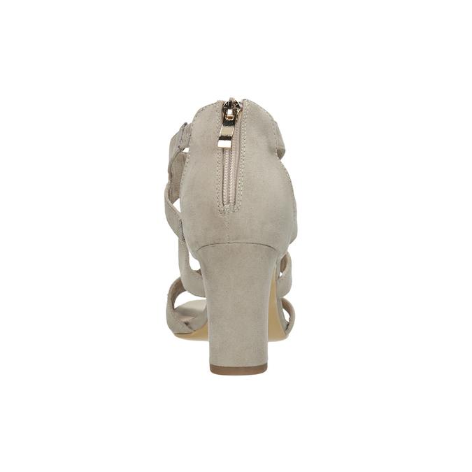 Sandály na stabilním podpatku insolia, béžová, 769-8617 - 15