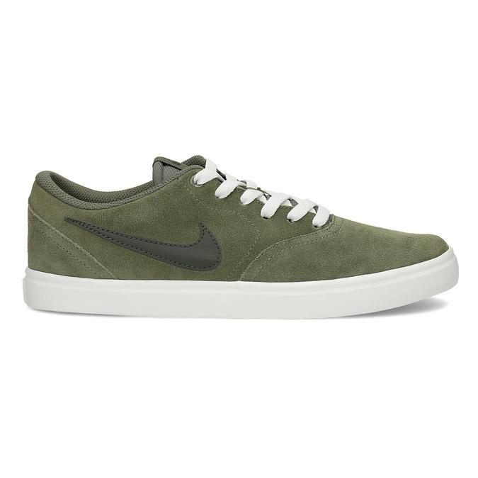 Pánské kožené khaki tenisky nike, zelená, 803-7712 - 19