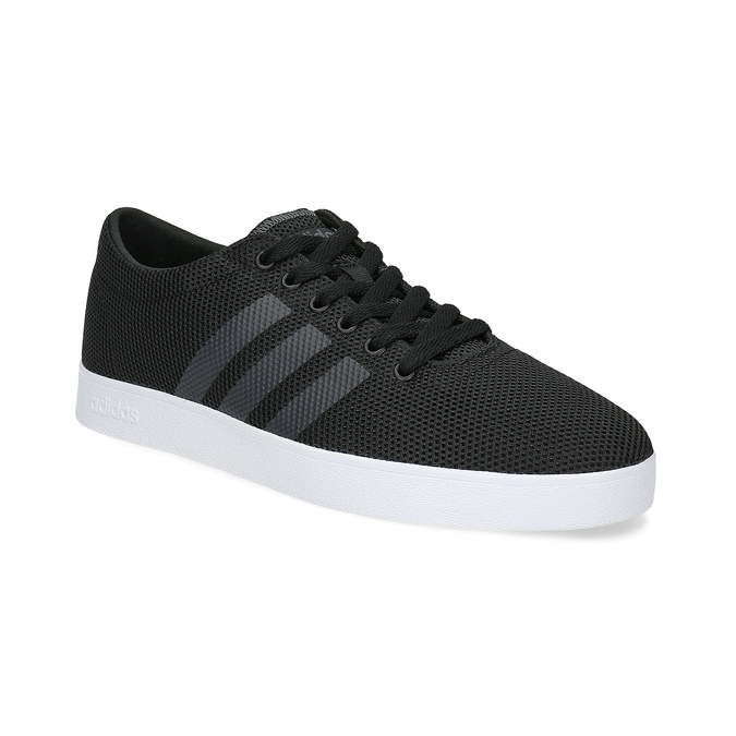 Pánské černé tenisky síťované adidas, černá, 809-6422 - 13
