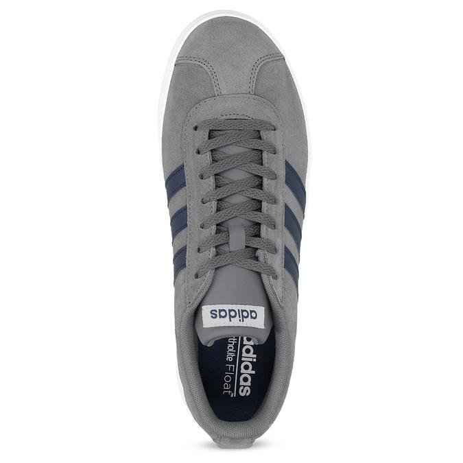 Pánské tenisky z broušené kůže šedé adidas, šedá, 803-2379 - 17
