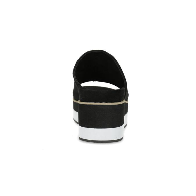 Černo-bílé nazouváky na flatformě bata, černá, 769-6630 - 15