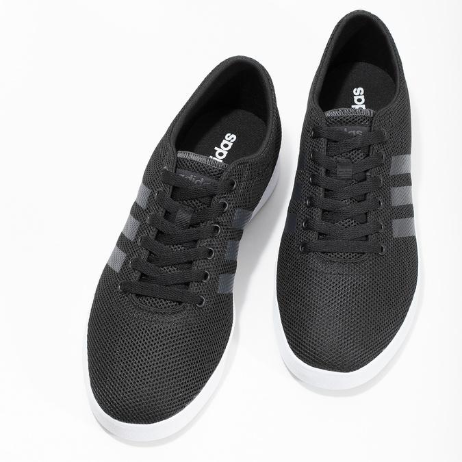 Pánské černé tenisky síťované adidas, černá, 809-6422 - 16