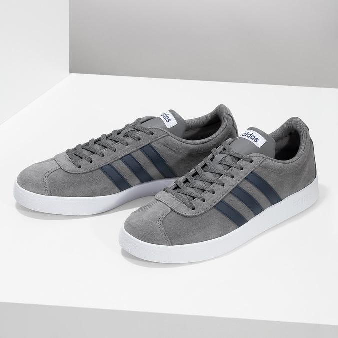 Pánské tenisky z broušené kůže šedé adidas, šedá, 803-2379 - 16