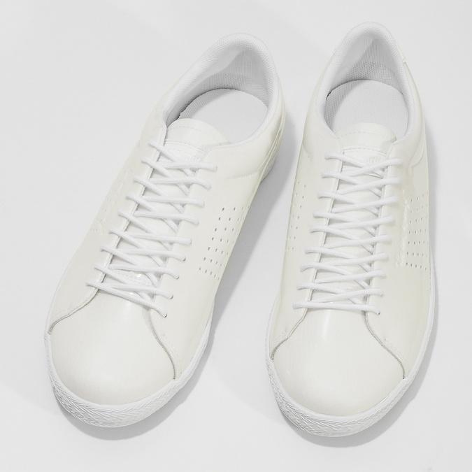 Bílé dámské tenisky lesklé le-coq-sportif, bílá, 501-1305 - 16