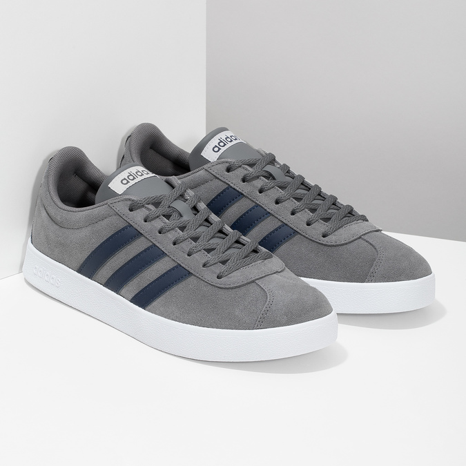 Pánské tenisky z broušené kůže šedé adidas, šedá, 803-2379 - 26
