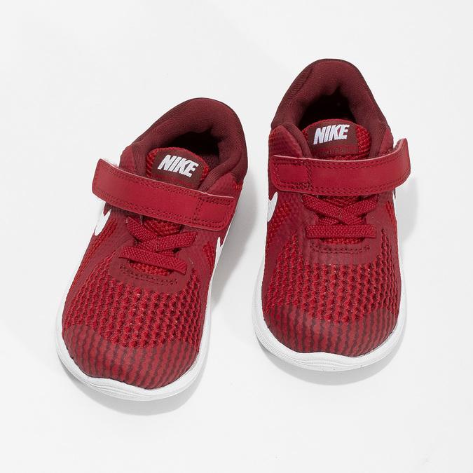Červené dětské tenisky na suchý zip nike, červená, 109-5179 - 16