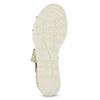 Zlaté dámské sandály na klínku bata, béžová, 569-8608 - 18
