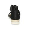 Černo-stříbrné dámské sandály bata, černá, 569-6608 - 15