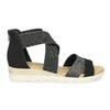 Černo-stříbrné dámské sandály bata, černá, 569-6608 - 19