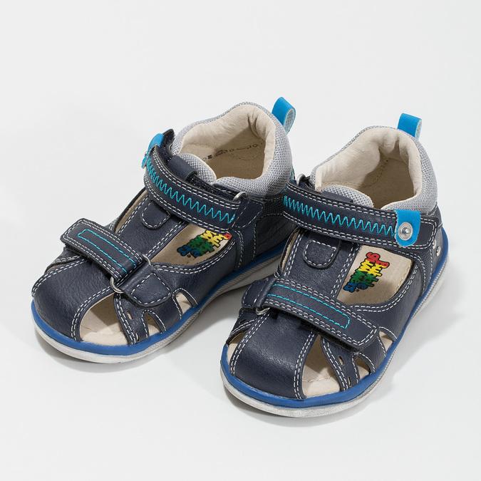 Modré dětské sandály bubblegummers, modrá, 161-9605 - 16