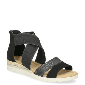Černo-stříbrné dámské sandály bata, černá, 569-6608 - 13