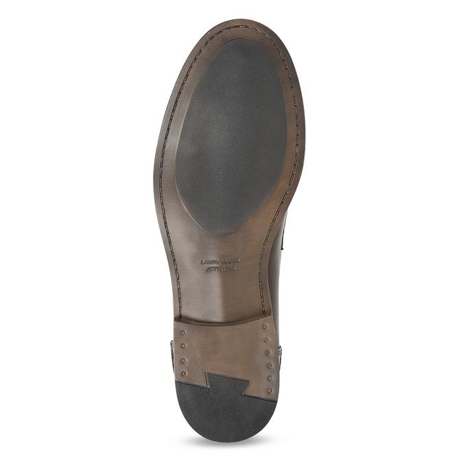 Hnědé kožené pánské mokasíny bata, hnědá, 814-4128 - 18