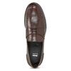 Hnědé kožené pánské mokasíny bata, hnědá, 814-4128 - 17