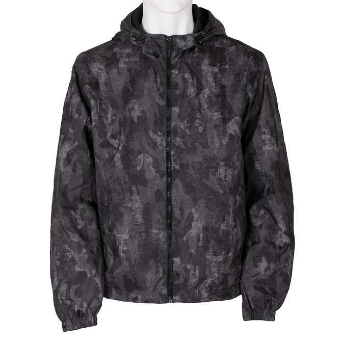 Pánská šedá bunda s maskáčovým vzorem bata, šedá, 979-2127 - 13