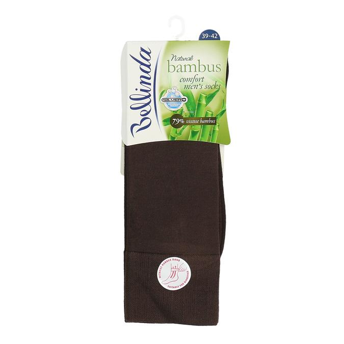 Pánské vysoké ponožky černé antibakteriální bellinda, hnědá, 919-4264 - 13